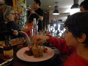 Manger en famille dans un restaurant mon objectif de début d'année est remporté!