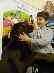 Sans oublier mon Lulu qui nous a prêter Farwest pour apporter la parole d'handi chiens
