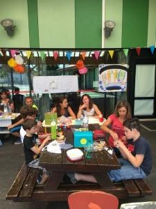 Continuer le travail au centre de loisir et apprendre à communiquer avec les copains VERBALISER donc travail sur la prononciation!